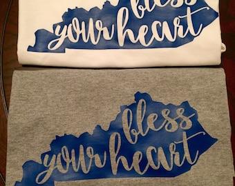 KY Bless Your Heart Long Sleeve T Shirt