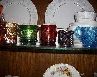 5 Vintage Glass Toothpick Holders