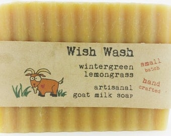 Wintergreen Lemongrass Goat Milk Soap