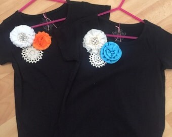2 x Girls size6 Embellished Tee