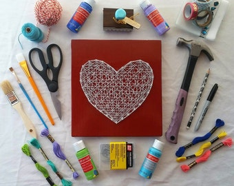 Heart String Art Made to Order Home Decor Large