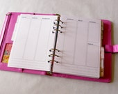 Week on two pages - Insert A5 - Filofax - Kikki K - Paperchase - Planner - Ring Binder - 6 holes punched - Undated