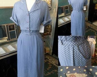 Vintage 1950's dress/jacket set