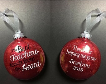 Teacher ornament, gift for teacher, christmas ornament , christmas gift for teacher, xmas gift, teacher gift, best teacher gift