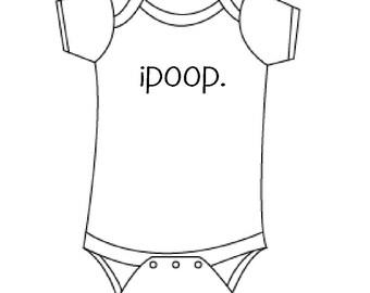 ipoop funny baby onesie-boys or girls