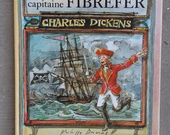 """French vintage children's book / """"The captain Fibrefer"""" by Charles Dickens by Flammarion / """"Captain Boldheart"""" vintage"""