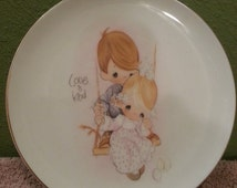 ON SALE Precious Moments Love is Kind Plate - Limited Edition - Porcelain - Hand Painted - Children - 1978 - Precious Moments Plate