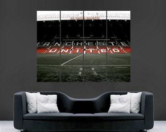 old trafford poster stadium football soccer  giant image print huge