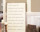 2'x4' Romans 12:2...