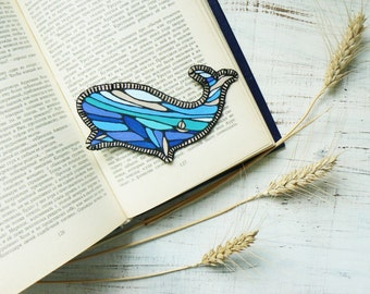 Whale Patch Iron Patches Ocean Iron on Patches Cute Patches for backpacks Fabric Applique Iron on Back patch