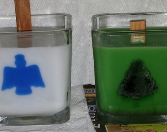 Angel or Pine Tree Wood Wick Candles, Wood Wick Candle, Angel Candle, Pine Tree Candle, Christmas Decor