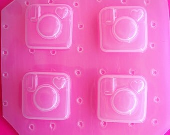 4pc Mini IG Kawaii Instagram Inspired Flexible Plastic Mold For Resin Crafts Decodan