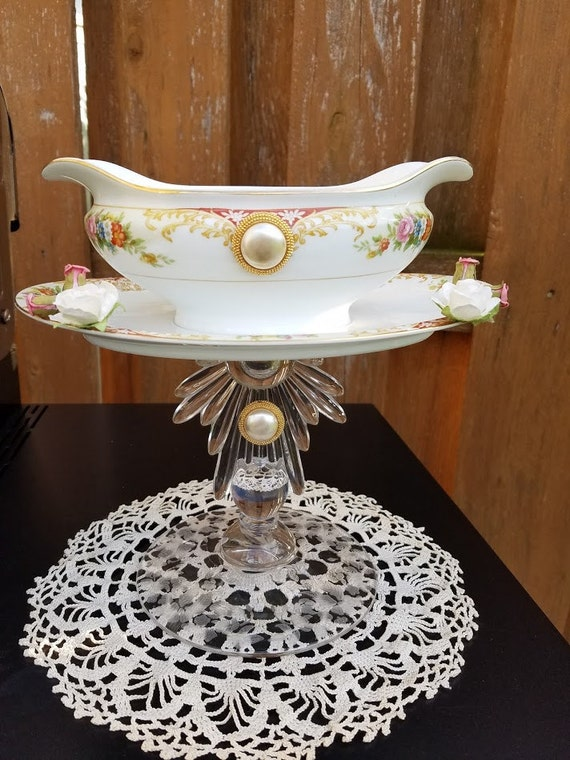 Upcycled vintage imperial china and crystal jewelry for Imperial home decor