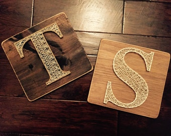 Letter String Art T H B M C S N (single letter of your choice)