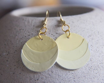 Ombré Yellow Paint Chip Earrings