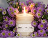 Sweet Dreams - Lavender Scented Soy Candle - lavender candle, baby gift- calming candle