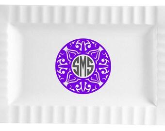 Queensquare Ceramic Platter - Tribal Design