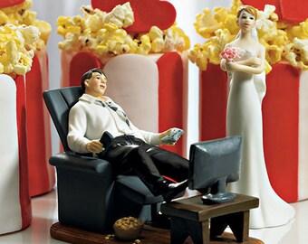 Couch Potato Groom Figurine