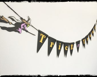 Halloween Witch Trick or Treat Banner