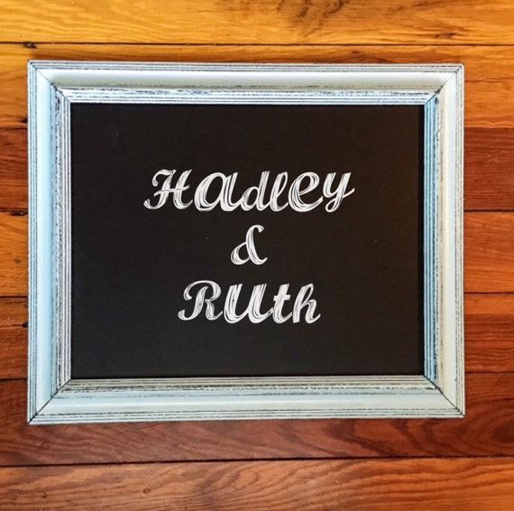Rustic chalkboard wedding chalkboard farmhouse chalkboard