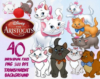 Aristocats  - Clip Art - PNG - transparent - 300dpi - party - printable