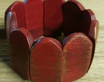 GIYN Wooden Red Fashion Bracelet