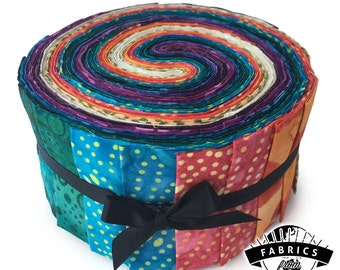 Fig Pop - Batik Jelly Roll - Quilting Fabric