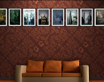 Middle Earth Travel Posters - Lord of the Rings Posters - The Hobbit Posters