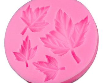 4 Leaves Design Dimensional Silicone Mold DIY- Food -Safe/Clay/Resin TDK-MD1036