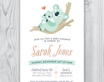 Koala Baby Shower Invite