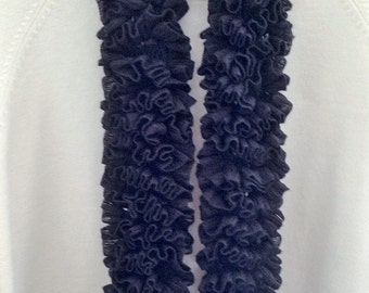 Soft Ruffle Tutu Scarf, Black, Fashionable, Great accessory, Perfect gift, Lightweight, others colors available