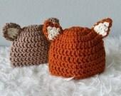 New born baby fox hat