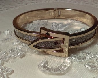 Gorgeous Belt Bangle Gold and Silver