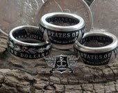 Coin Ring - ON SALE! - Morgan Silver Dollar Coin Ring - Mens Ring - Custom Mans Ring - Coin Jewelry - Mens Coin Ring - Morgan Silver Dollar