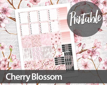50% off! Cherry Blossom Weekly Kit - Erin Condren Printable Planner Sticker - Ombre To Do Lists, checkboxes, washi and weekend
