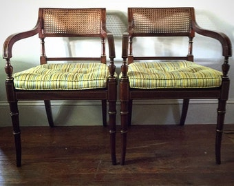 Pair of Kindel Parcel Gilt Regency Chairs