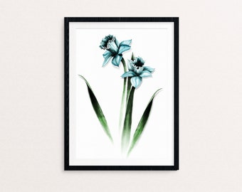 Blue Daffodil Drawing | Digital Download