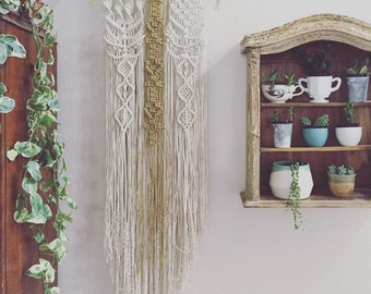 Stay golden * macrame wallhanging
