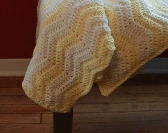 Chevron Crochet Homemade Baby Blanket