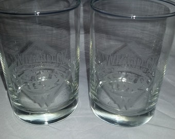 Vintage Wizard of Oz 50th Anniversary Glasses (Set of 2) released by Whataburger in 1989