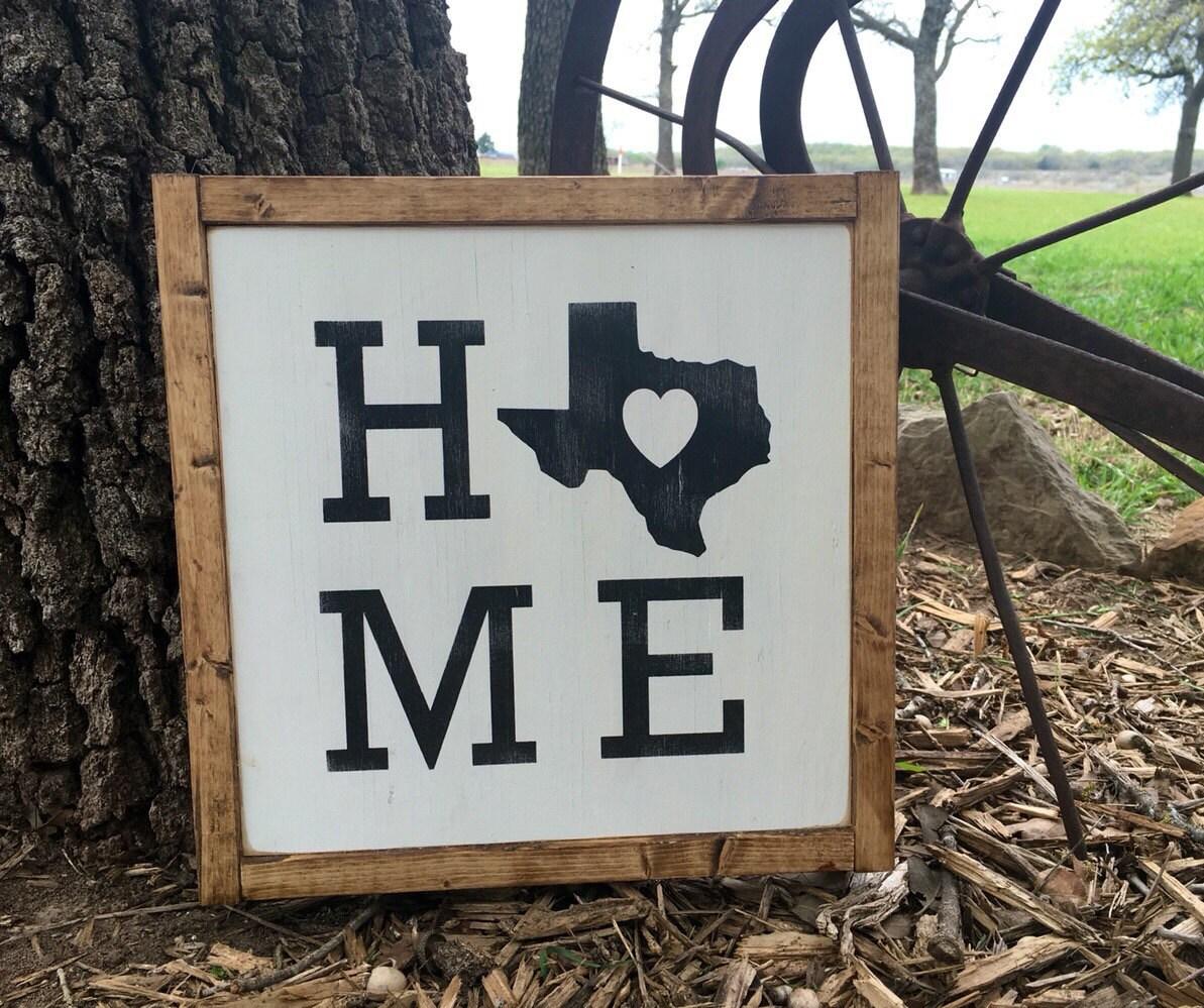 Texas Home Sign Home Decor Wall Art Texas By MyRustyButton