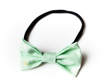 Bow hair band all sizes Mint Green