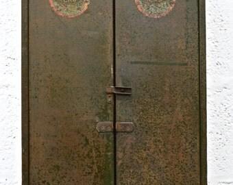 Mid-Century Vintage Retro Metal Tool Cabinet by Macrome