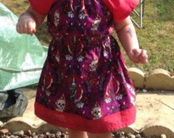 Girls dress, goth girls outfit, pullover dress, baby dress