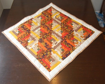 Fall Log Cabin Quilted Wall Hanging/Table Topper