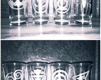 Superhero shot glasses