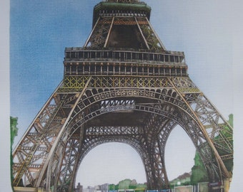 Eiffel Tower, Paris: SIGNED and NUMBERED PRINT