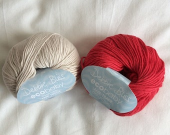 Debbie Bliss ecobaby organic cotton yarn - fair trade collection