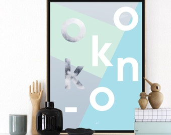 OKKOON3 - Printable Art - Printable Minimalist Typographic Poster  - Scandinavian Poster - Digital Wall Art Prints - Affiche Scandinave