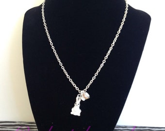Alice Through The Looking Glass White Rabbit Necklace